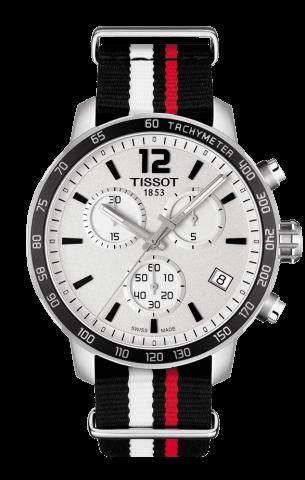 ティソ T-スポーツ クイックスター クロノグラフ NATO T095.417.17.037.01