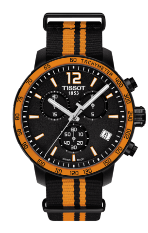 ティソ T-スポーツ クイックスター クロノグラフ NATO T095.417.37.057.00