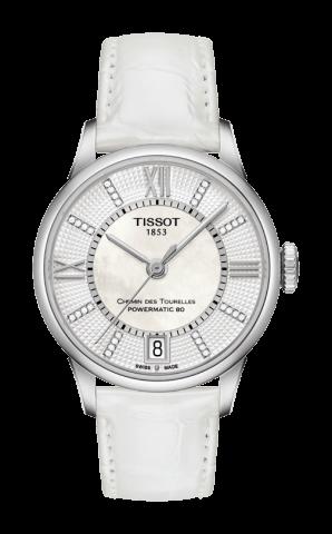 ティソ T-クラシック シャミン・ドゥ・トゥレル パワーマティック80 レディ ダイヤモンド T099.207.16.116.00
