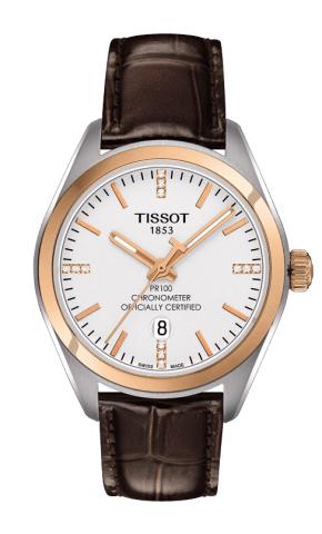 ティソ T-クラシック PR100 クオーツクロノメーター レディ ダイヤモンド T101.251.26.036.00
