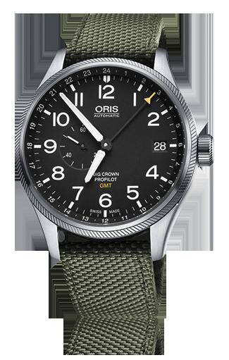 オリス ビッグクラウン プロパイロット GMT スモールセコンド 748 7710 4164FS