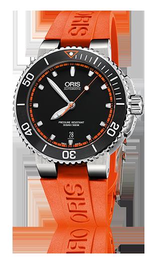 オリス アクイス デイト 43㎜ 733 7653 4128RS オレンジラバー