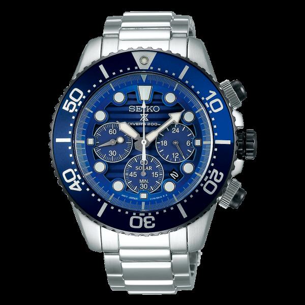 セイコー プロスペックス ダイバースキューバ ソーラー クロノグラフ Save the Ocean SBDL055