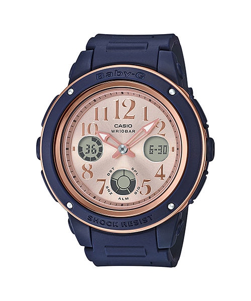 BABY-G BGA-150 Navy Brown Colors BGA-150PG-2B1JF