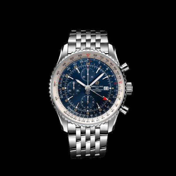 ブライトリング-ナビタイマー1 クロノグラフ GMT 46 ブルーダイアル A24322121C2A1-画像1