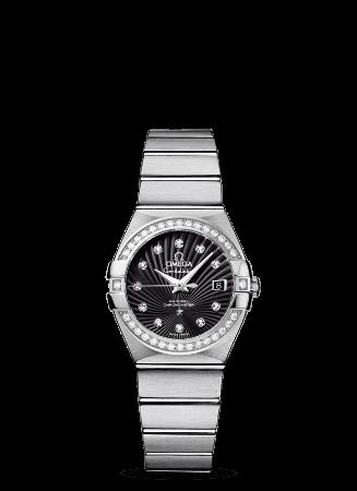 オメガ コンステレーション レディ コーアクシャル ベゼルダイヤモンド 27㎜ ブラッシュ 123.15.27.20.51.001