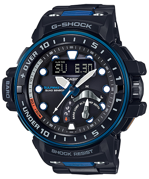 G-SHOCK ガルフマスター クワッドセンサー 電波ソーラー GWN-Q1000MC-1A2JF