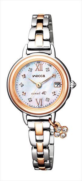 シチズン ウィッカ エコドライブ電波時計 canal4℃コラボ限定モデル KL0-537-11