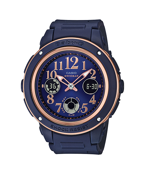 BABY-G BGA-150 Navy Brown Colors BGA-150PG-2B2JF