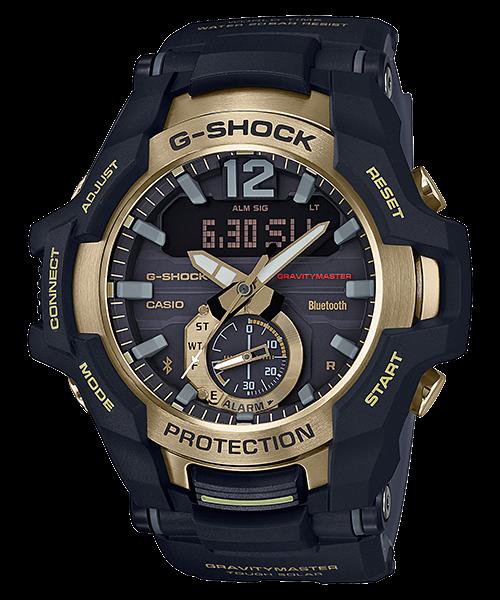 G-SHOCK グラビティマスター スマートフォンリンク タフソーラー Black & Gold GR-B100GB-1AJF